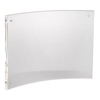Horizontal Letter Curved Sign Holder