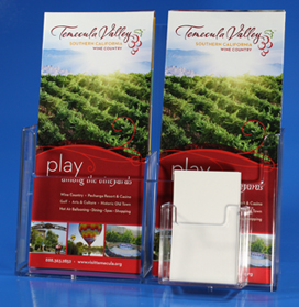 Brochure Holder Side X Side Vertical BCHA