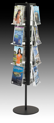 Rotating Floor Display Magazines