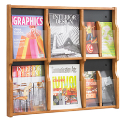 Wall Mount WOOD Literature Organizers