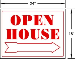Open House Sign PVC