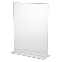 Display Stand Plastic Ad Frame