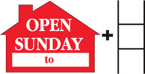 Open Sunday-House-Red print