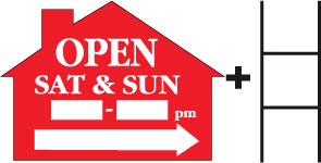 Open Sat and Sun___to___-House-Red print