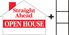 Straight Ahead Open House-House-Red print