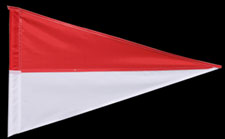 PENNANT RED WHITE
